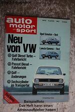 AMS Auto Motor Sport 15/78 VW Golf Turbo Diesel Niva 2121 Opel Senator
