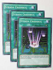 Set 3X   STRADA CRASHBUG   GENF-IT050 Comune in Italiano YUGIOH
