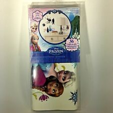 Disney Frozen 36 Wall Decals Removable Repositionable Glitter Elsa Anna Olaf New