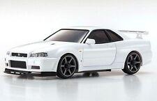 Kyosho MZP427W Mini Z AWD Car Body Nissan Skyline GT-R R34 V-Spec II White Ver.