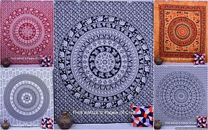 Elephant Mandala Indian Tapestry Queen Hippie Throw Wall Hanging Boho Bedspread