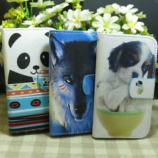 1x Wolf Panda Little Dog Wallet Kickstand Flip case cover for Samsung Galaxy