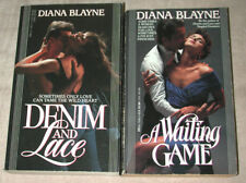 Lot 2 Diana Blayne DENIM & LACE A Waiting Game aka Diana Palmer 1990 91 PB RARE!