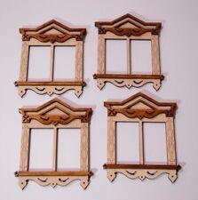 Russian window 1/6 1:6 scale dollhouse furniture for IT FR Barbie etc 09 wooden