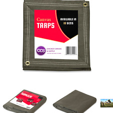 Ccs Chicago Canvas & Supply Canvas Tarpaulin, Olive Drab, 8 by 10 feet (Avail.