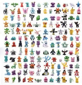 Kids Gift 24-144pcs Pokemon Pikachu Monster Collectible Action Figures Doll Toys