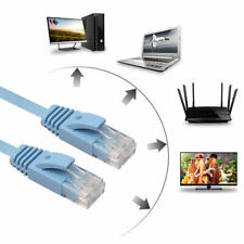 FLAT Ethernet CAT6 Network Cable Patch Lead RJ45 for Smart TV/PS4/Xbox Blue 3FT