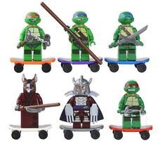 6x Teenage Mutant Ninja Turtles TMNT Minifigures Figures Blocks Building Toy Set