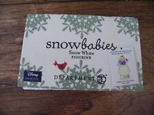 Dept. 56 Snowbabies SNOW WHITE Disney FIGURINE/New in Box