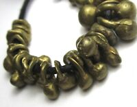 """33 RARE SMALL STUNNING GRADUATED OLD SOLID BRASS """"IGBO"""" ANTIQUE BEADS"""