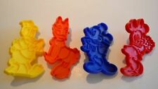 Vintage Tupperware WALT DISNEY Cookie Cutters~Mickey Mouse/Donald Duck~NEW! HTF!