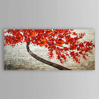 ZOPT331 charmed red flowers tree art hand painted oil painting art canvas