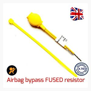 4.7 OHMS SRS AIRBAG RESISTORS 0.25W 2 AMP FUSED  BYPASS DELETE  FAULT  LIGHT