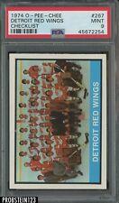 1974 O-Pee-Chee OPC Hockey #267 Detroit Red Wings Checklist PSA 9 MINT