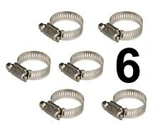 """HOSE CLAMP STEEL 6 PACK FITS BEER LINES GAS LINES 1/4"""" 3/16"""" 1/2"""" 5/8"""" CAL-HAWK"""