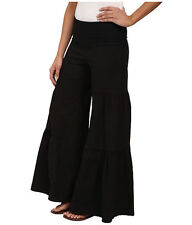 XCVI Fold Over Side Tier Palazzo Pants Black - NWT Size XL