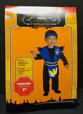 Ninja Costume 2T Halloween Toddler Jumpsuit w/Attached Apron