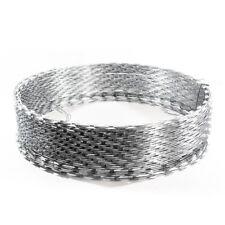 ALEKO Heavy Duty Razor Barbed Wire 33 Loops 50 feet long - Silver