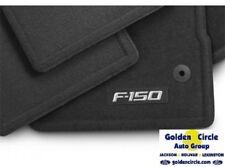NEW FORD OEM 4 PC BLACK CARPET FLOOR MATS W/ F150 LOGO 2012 - 2014 F150 CREW CAB