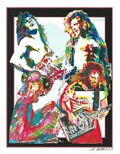 Van Halen, Eddie, Alex, David Lee Roth, Michael Anthony, Rock 8.5x11 PRINT w/COA