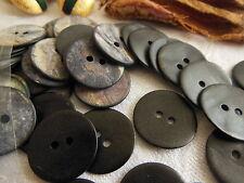 lot 10 boutons en NACRE  gris noir effet simili cuir 1,7 cm  ref 1970