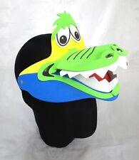 Crocodile Animal Zoo Farm Jungle Safari Foam Visor Fancy Dress Hat Cap New
