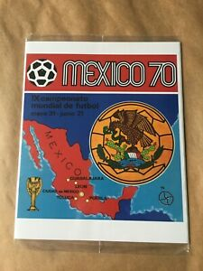 100% ORIGINAL COMPLETE PRINTED ALBUM FIFA WORLD CUP MEXICO 70 PANINI SEALED OFFI