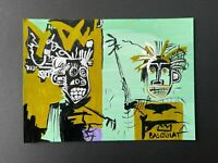 JEAN-MICHEL BASQUIAT - MIXED MEDIA POSTCARD VTG ART