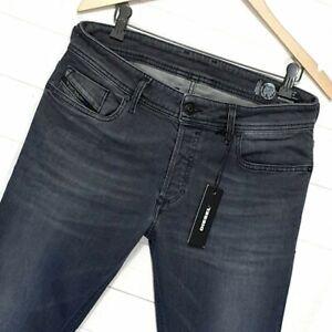 ⭐ Mens Diesel Sleenker 084LP Slim-skinny stretch dark denim jeans Italy W31 L34