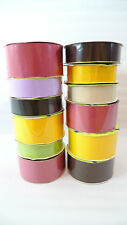 12 Spools Morex Corp. PURE COLOR GROSGRAIN RIBBON Assorted Colors Widths NEW
