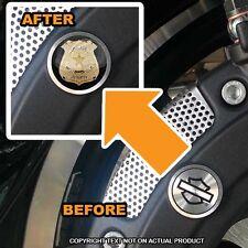 Brembo Front Brake Caliper Insert Set For Harley - GOLD POLICE BADGE - 167