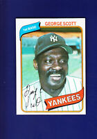 George Scott 1980 TOPPS Baseball #414 (NM+) New York Yankees