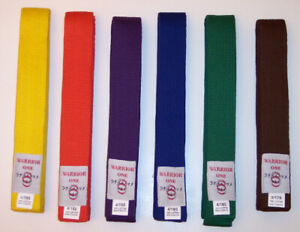 NEW! Martial Arts Belts Double Wrap Color Belt - Tae Kwon Do Karate Hapkido Judo