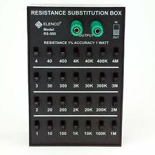ELENCO RS-500 RESISTOR SUBSTITUTION BOX-1 ohm to 11M ohm (ASSEMBLED VERSION)