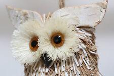 NEW NATURAL CRAFT HANDMADE CHRISTMAS OWL ORNAMENT