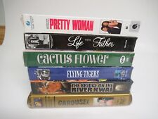 Lot of 6 VHS Movies, VCR Tapes, All Unopened and Vintage