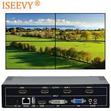 4 Channel TV Video Wall Controller 2x2 1x3 1x2 HDMI DVI VGA USB Video Processor