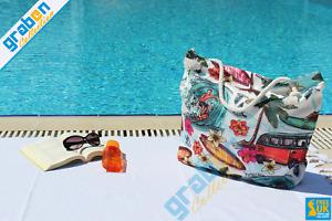 STYLISH DIGITAL PRINTED BEACH BAG SHOULDER BAG TRAVEL HOLIDAY BAG WITH ZIPPER