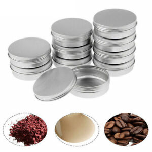 30pc Small Mini Round Tin Can Boxes Metal Jewelry Container 30ml with Screw Lids