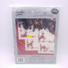 Something Special 50759 - Deer Place Mats x4 - Vintage Cross Stitch Kit
