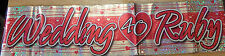 New - Ruby 40th Wedding Pink & Silver Holographic Party Celebration Banner 2.6m