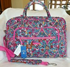 Vera Bradley Womens Iconic Weekender Travel Bag Quilted Pink Floral Kaleidoscope