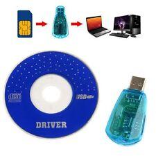 USB Cellphone Standard SIM Card Reader Copy Cloner Writer SMS Backup GSM CDMA+CD