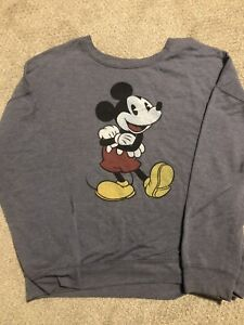 Vintage Womens Girls Mickey Mouse Disney Sweater crew neck sweatshirt size XL