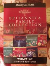 BRITANNICA FAMILY COLLECTION - 24 Disc CD-ROM Series - Volumes 1 & 2 - Unused