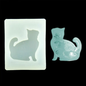 Cat Silicone Mold Resin Epoxy Mould Jewelry Pendant Making DIY Tool Accessories