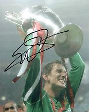Edwin Van Der SAR Signed Autograph 10x8 Photo AFTAL COA Man Utd Champions League