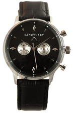 The Sanctuary Black & Silver Leather Strap Watch The Style  MVMT Horse 5th KORS