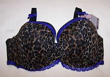 Kayser Curve It Up Ladies Animal Spot Contour Balconette Bra Size 10DD New