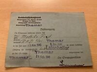 Sammlerstück Bescheinigung Luftschutzlehrgang RAD 2/61 Themar